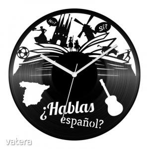 Spanyol nyelvtanár bakelit óra