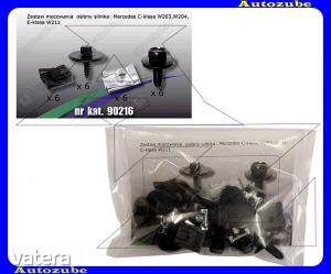 MERCEDES  C  W203  2000.06-2006.12  Alsó  motorvédő  burkolat  rögzítő  készlet  (24db)  {ROMIX}