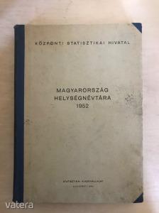 Magyarország helységnévtára 1952