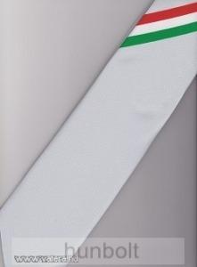 Ezüstszürke alapon nemzeti csíkos férfi nyakkendő