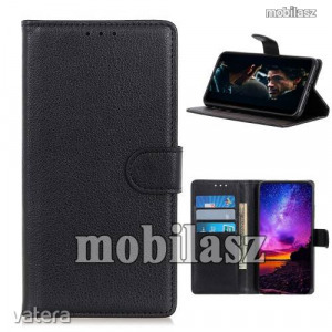 ALCATEL 3X (2020) (5061U), WALLET notesz mobiltok, Fekete