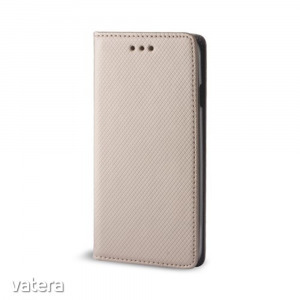 Smart magnet Nokia 1 Plus oldalra nyíló mágneses könyv tok szilikon belsővel arany