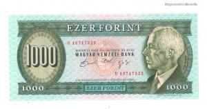 1992 1000 forint D UNC