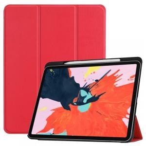 Tablet védőtok álló, bőr (aktív flip, oldalra nyíló, TRIFOLD asztali tartó funkció, Apple Pencil ...