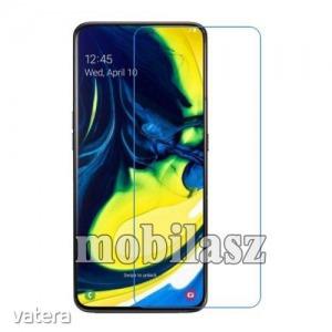 Samsung Galaxy A80, Samsung Galaxy A90, Képernyővédő fólia, Ultra Clear, 1db, törlőkendővel