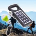 Hordozható napelemes lámpa + töltő