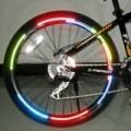 5 ív fényvisszaverő matrica csík, kerékpárra, motorra, többféle szín
