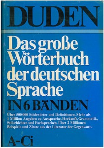 Duden - Das große Wörterbuch der deutschen Sprache in 6 Bánden 1-6.