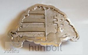 Nagy-Magyarországos övcsat ezüst színű (fém, 10x7 cm)
