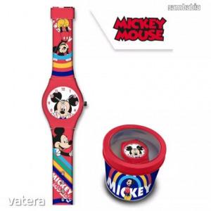 Disney Mickey analóg karóra fém dobozban