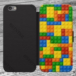 Lego mintás Huawei P8 Lite kinyitható flip flipes tok oldalra nyíló