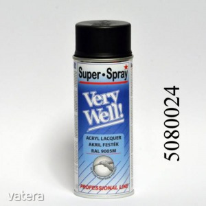 Festék fekete matt 400 ml VeryWell  RAL 9005