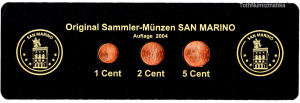 San Marino 1-2-5 Cent 2004