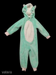 3-4 évesre zöld szőrmés unikornis háziruha, jelmez - George