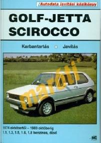Volkswagen Javítási kézikönyv, vw golf/jetta/scirocco 1974-1983