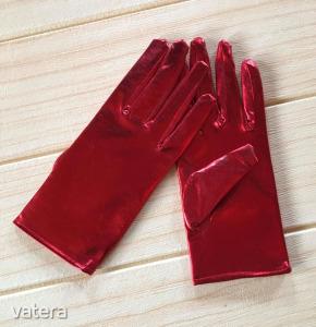 Piros alkalmi Menyecske kesztyű latex hatású kiegészítő ,Új