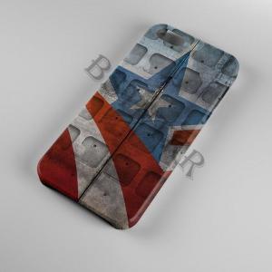 Amerika Kapitány mintás Samsung Galaxy A6 tok hátlap tartó