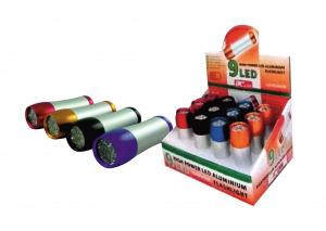BC 9 LED-es Zseblámpa színes
