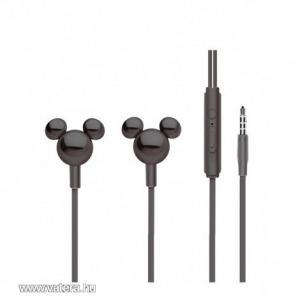 Disney sztereo headset - 3D Mickey 3,5mm jack fekete