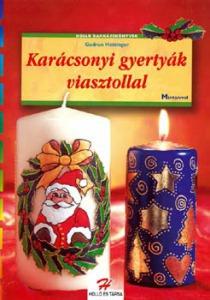 Karácsonyi gyertyák viasztollal