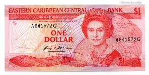 Kelet-karibi Államok 1 Dollár Bankjegy 1985-1988 P17g