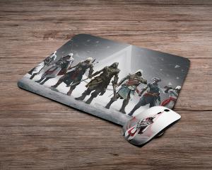 Assassins Creed mintás vezeték nélküli egér + egérpad