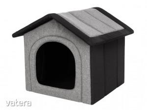 Inari szivacs kutyaház - világosszürke, fekete - 74x76x72cm
