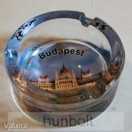 Budapest- Parlament mintás üveg hamutál 8,5 cm - 1415 Ft - Vatera.hu Kép