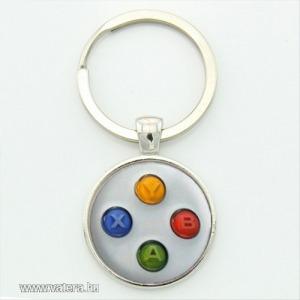 Xbox controller kulcstartó, táskadísz - fehér színben - KÉSZLETRŐL!