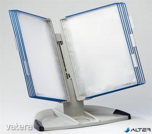 Bemutatótábla tartó, asztali, A4, 10 férőhelyes, TARIFOLD 'Design', kék