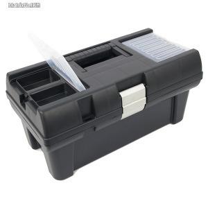 EXTOL szerszámosláda, műanyag 415×220×200mm, 16 rendező felül, alucsatos, tálcával, fe...