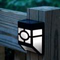 Kültéri fekete solár lámpa