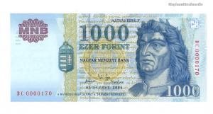 2004 1000 forint DC alacsony sorszám UNC