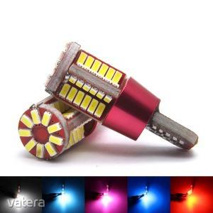 T10 szuper fényes 4014 SMD LED - Műszerfal és helyzetjelző világításhoz - kék fényű - KÉSZLETRŐL!