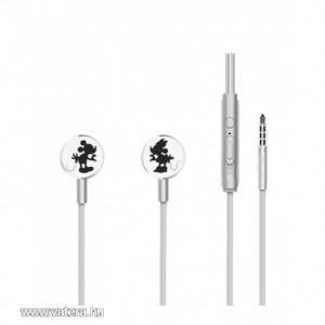 Disney sztereo headset - Mickey és Minnie 3,5mm jack ezüst