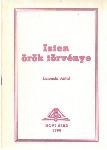 Lorencin Antal: Isten örök törvénye