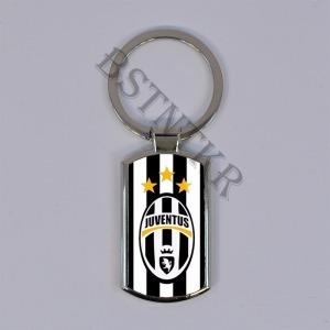 FC Juventus mintás elegáns fém kulcstartó