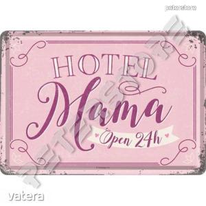 Retró Fém Képeslap - Mama Hotel, Anya Hotel