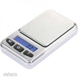 Zsebmérleg max. 200 g/0,01 g, ezüst, Basetech SJS-60008