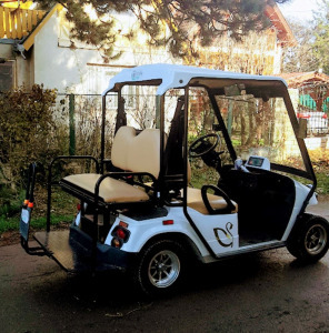Golfkocsi,RENDSZÁMOS, négy üléses,vagy 2 üléses+teher elektromos(Siófok
