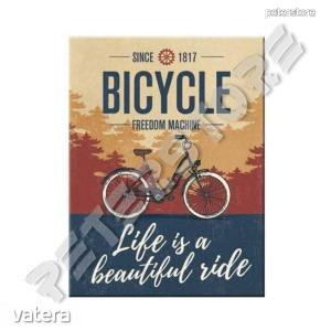 Fém Hűtőmágnes - Bicycle - Bicikli - Kerékpár