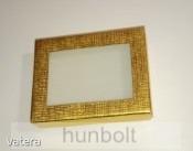 Ablakos fekete doboz 65x80x25 mm- arany