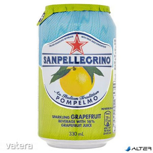 Üdítőital, szénsavas, 0,33 l, SAN PELLEGRINO, grapefruit