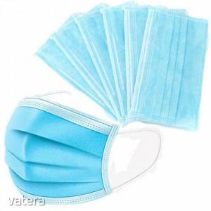 Szájmaszk, orvosi szájmaszk, 3 rétegű, kék színű, 1 db