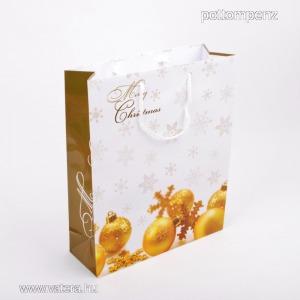 Karácsonyi ajándéktasak közepes 18x23 cm.