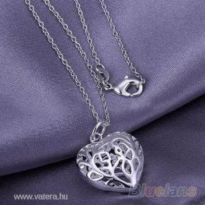 925 ezüst bev.  szív nyaklánc KÉSZLETEN