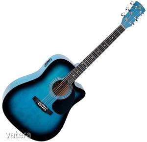 Soundsation - Yosemite-DNCE-BB akusztikus gitár elektronikával kék-burst