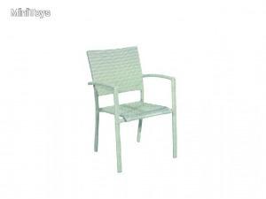Aluminium classic szék fehér egymásba rakható
