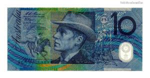 Ausztrália 2 Dollár Bankjegy 1985
