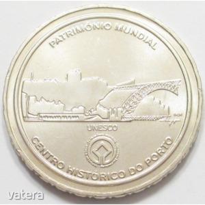 Portugália, 2.5 euro 2008 - Porto történelmi belvárosa az UNESCO világörökség része aUNC+